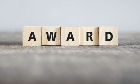 award blocks stock image