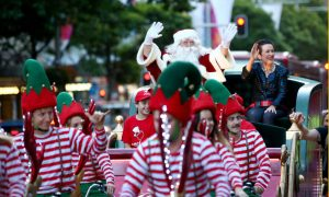 Christmas sleigh ride. Image courtesy of City of Sydney