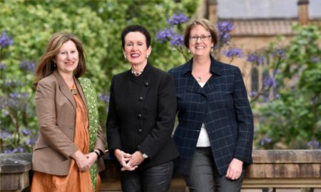 City of Sydney CEO Monica Barone, Lord Mayor Clover Moore and Director Workforce and Information Services Susan Pettifer. Image courtesy of City of Sydney