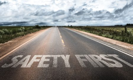safety first road generic stock image
