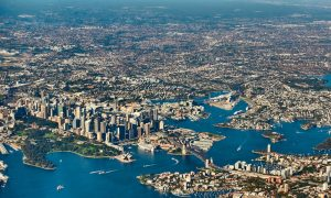 sydney aerial stock image
