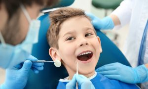 child dentist stock image