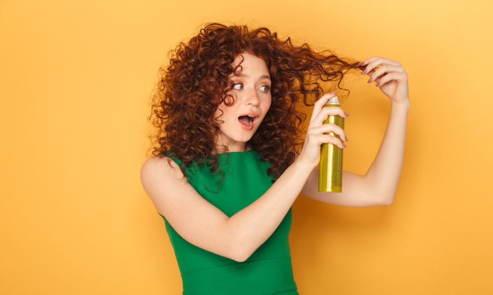 hairspray girl stock image