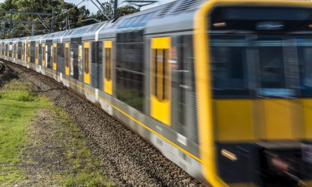 sydney train stock image