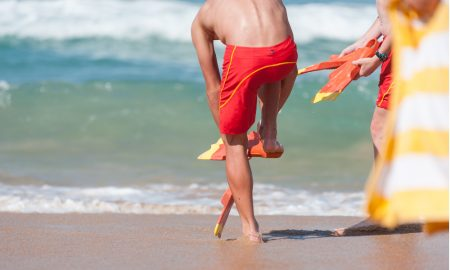 surf life saving stock image