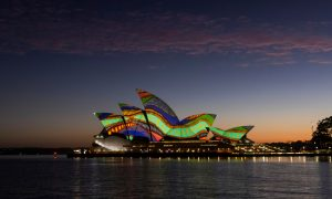 Sydney Opera House projection