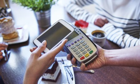 phone payment stock image