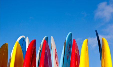 surfboards stock image
